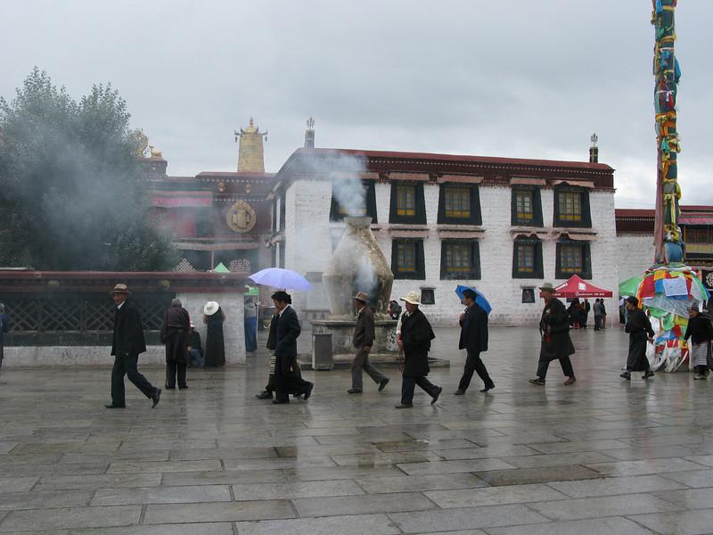 Part of walking paths around the Patala Palace - Lhasa Tibet