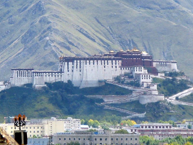 Patala Palace taken from the Sera Monastery - Lhasa Tibet