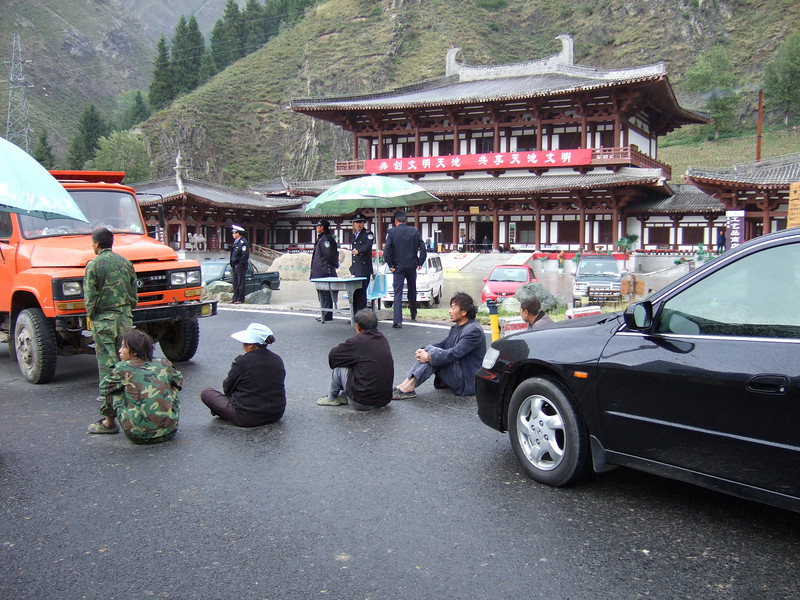 Sit in outside Heavenly Lake - Urumqi