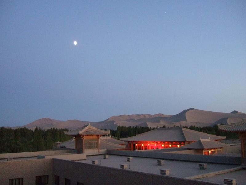 Nightfall at the Dunhuang Silk Road Hotel