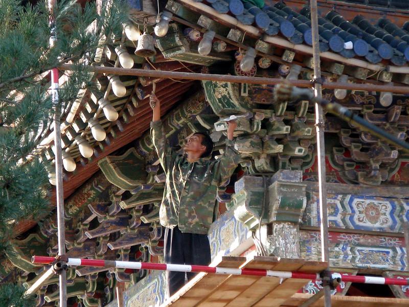 Restorer working at Red Hill Park - Urumqi