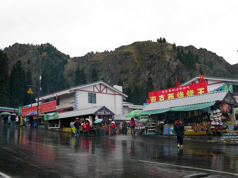 Heavenly Lake area in the rain - Urumqi