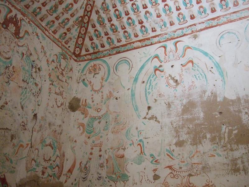 Ceiling inside a Mogao Grotto