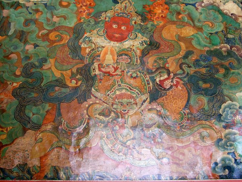 Wall decorations at the Sera Monastery