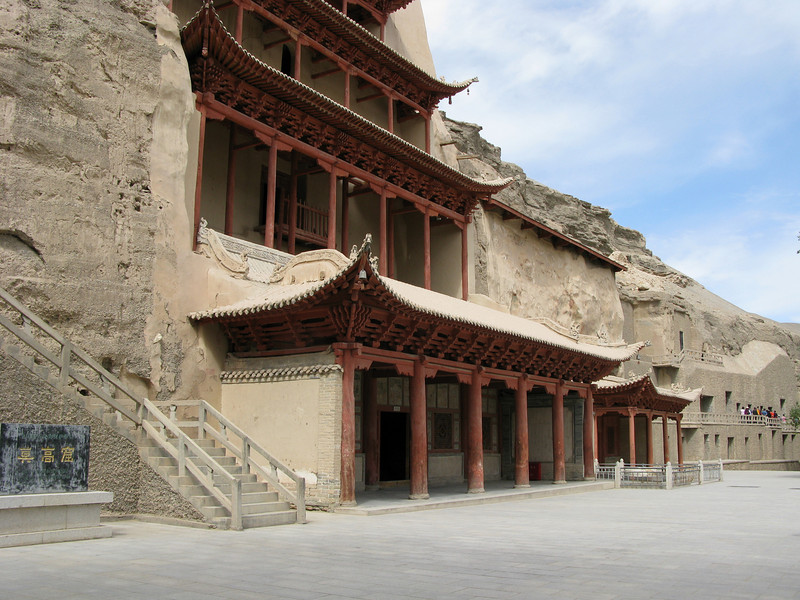 Pagoda covering the Giant Budda at the Mogao Grottos