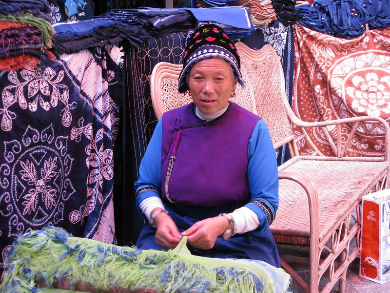 Bai Minority Tie Dye Shop Worker