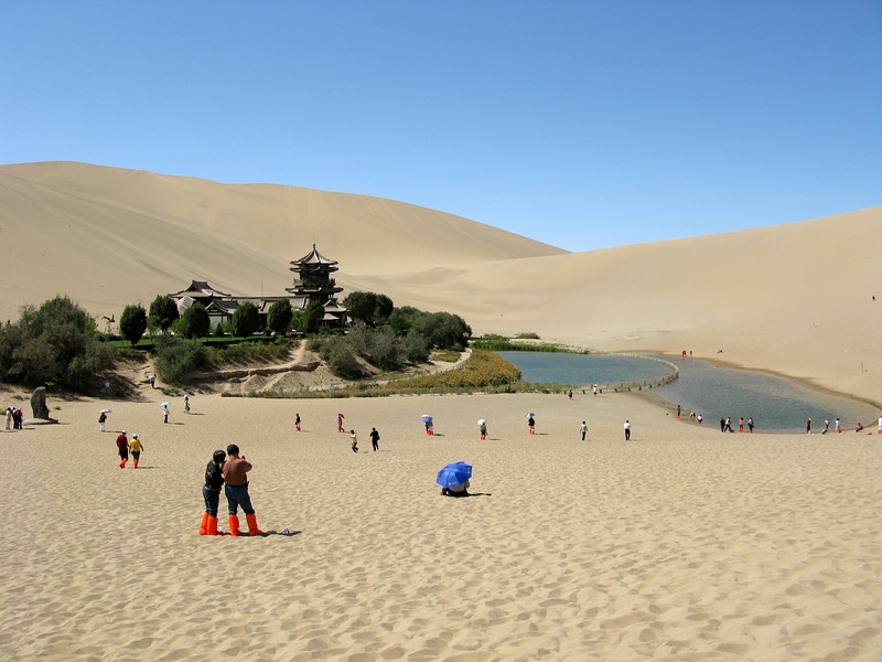 Crescent Moon Lake in the Sand Dunes of Dunhuang