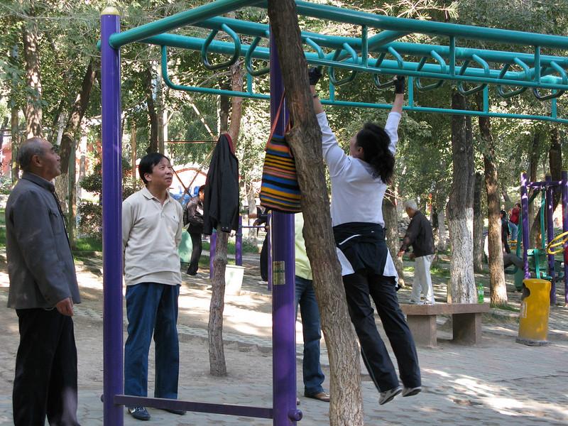 Exercising at Red Hill Park- Urumqi