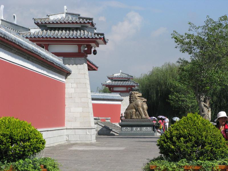 Entrance to the Three Pagodas at the base of the Chang Mountain Range - Dali