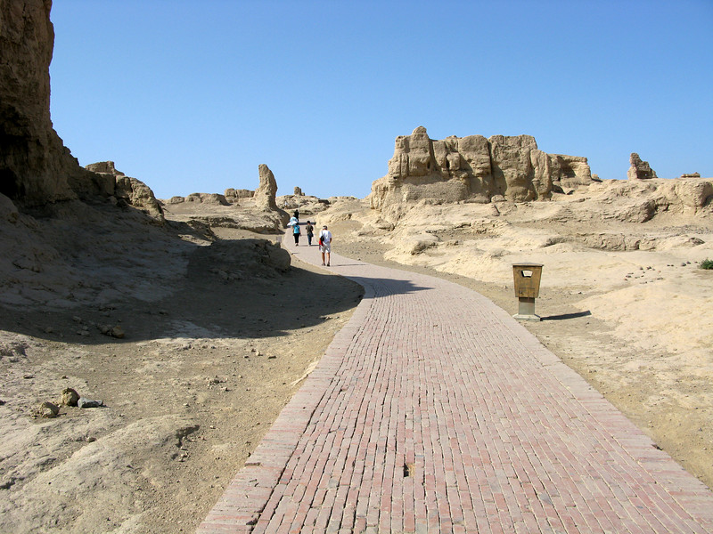 Walking into the Jiaohe Ruins
