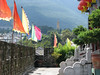 Looking out from the South Gate Tower to the 10th Peak of the Cang Mountains - Dali