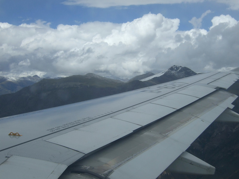 Flying into Tibet