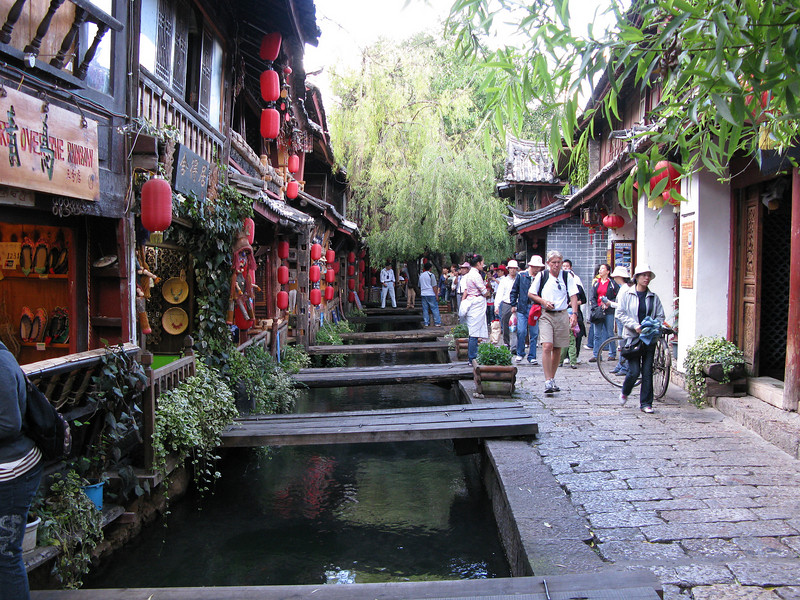 in the Old City at Lijiang