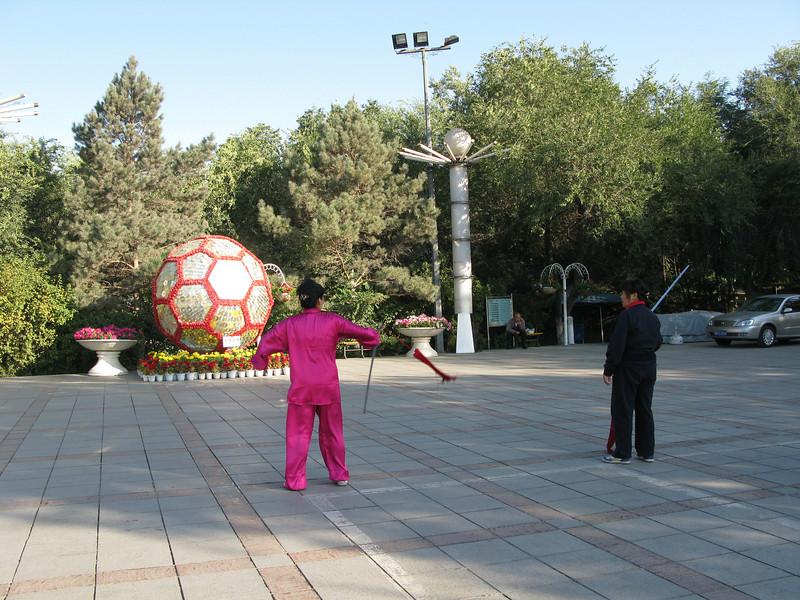 Sword play at Red Hill Park - Urumqi