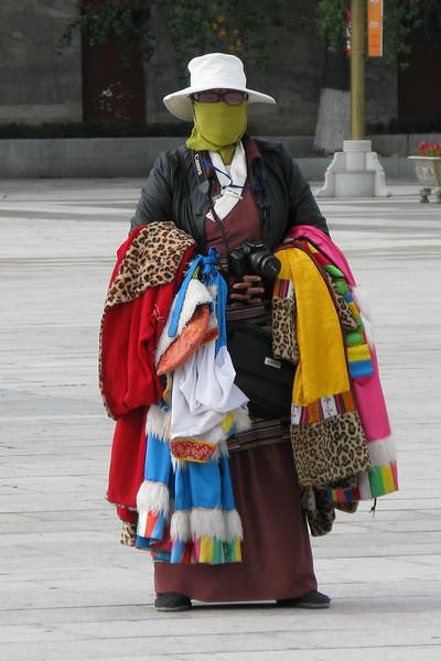 Peddler in Potala Palace Plaza - Tibet