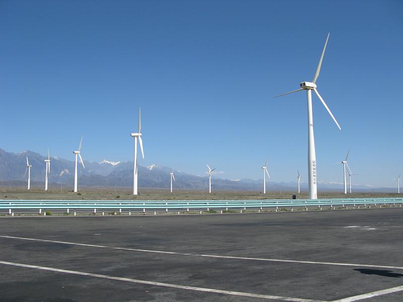 Windmills near Babancheng, Turpan