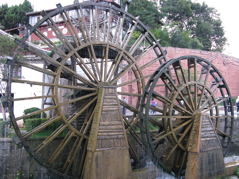 Water Wheels ouside the Old City Wall at Lijiang