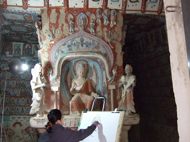 Artist in the Mogao Grottos