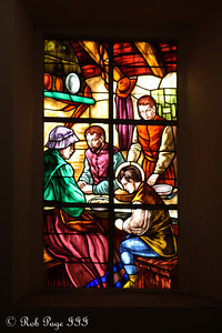 A stainglass window in Iglesia de San Pedro Claver - Cartagena, Colombia ... October 15, 2011 ... Photo by Rob Page III