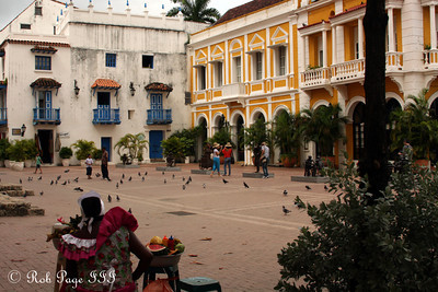 Looking out over the plaza - Cartagena, Colombia ... October 15, 2011 ... Photo by Emily Page