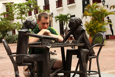 Playing chess - Cartagena, Colombia ... October 15, 2011 ... Photo by Emily Page