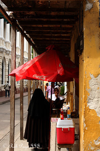 Selling goods on the street - Cartagena, Colombia ... October 15, 2011 ... Photo by Emily Page