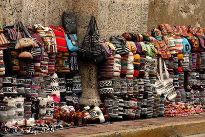 Selling bags along the outside of the church - Cartagena, Colombia ... October 15, 2011 ... Photo by Rob Page III