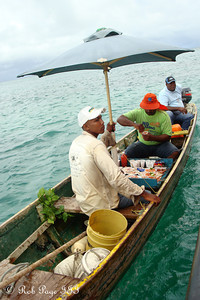 Selling shrimp alongside the boat - Cartagena, Colombia ... October 17, 2011 ... Photo by Rob Page III