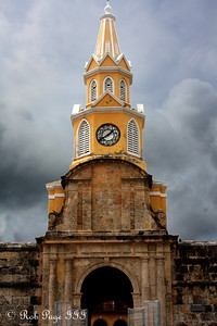 The clocktower overlooking Peace Plaza - Cartagena, Colombia ... October 15, 2011 ... Photo by Rob Page III
