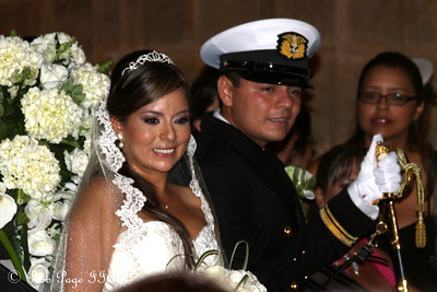 The newlyweds at Iglesia de San Pedro Claver - Cartagena, Colombia ... October 15, 2011 ... Photo by Rob Page III