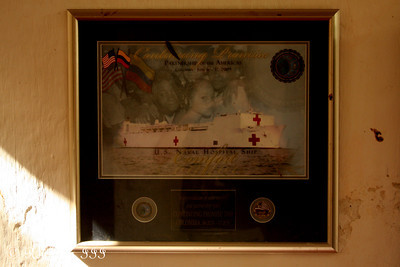 It's fantastic going into a foreign country's naval musuem and seeing material for a project you supported.  In 2009 the program I manage supported some of the media monitoring related to Continuing Promise 2009.  A co-worker was on the USNS Comfort when it arrived in Cartagena - Cartagena, Colombia ... October 16, 2011 ... Photo by Rob Page III