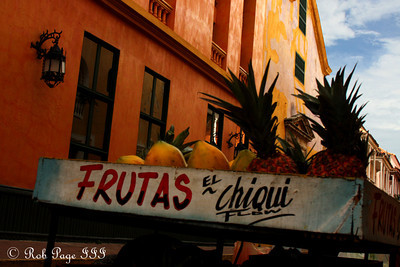 A fruit stand - Cartagena, Colombia ... October 15, 2011 ... Photo by Rob Page III