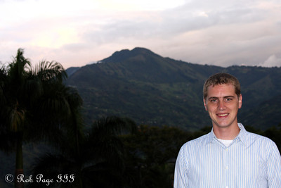Rob enjoying the Colombian weather - Medellin, Colombia ... October 20, 2011 ... Photo by Emily Page