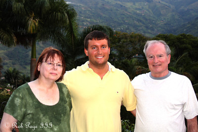 Cliff and his parents - Medellin, Colombia ... October 20, 2011 ... Photo by Rob Page III