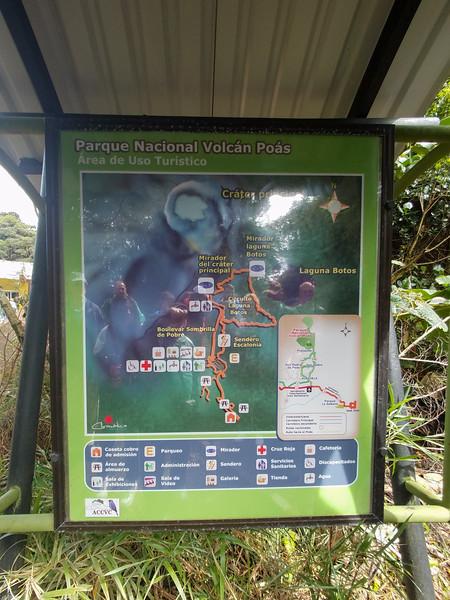The Poas Valcano National Park in Costa Rica.