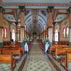 Inside the Catholic Church in Sarchi, Costa Rica.