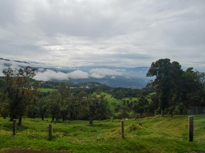 Costa Rican roadside scenery on the way to Poas Volcano.