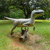 Concrete Dinosaur creations at the Monteverde Cheese and Ice Cream Cooperative, Costa Rica.