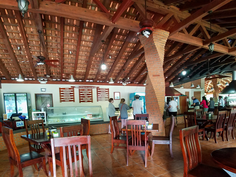 Inside the ice cream parlor at the Monteverde Cooperative.
