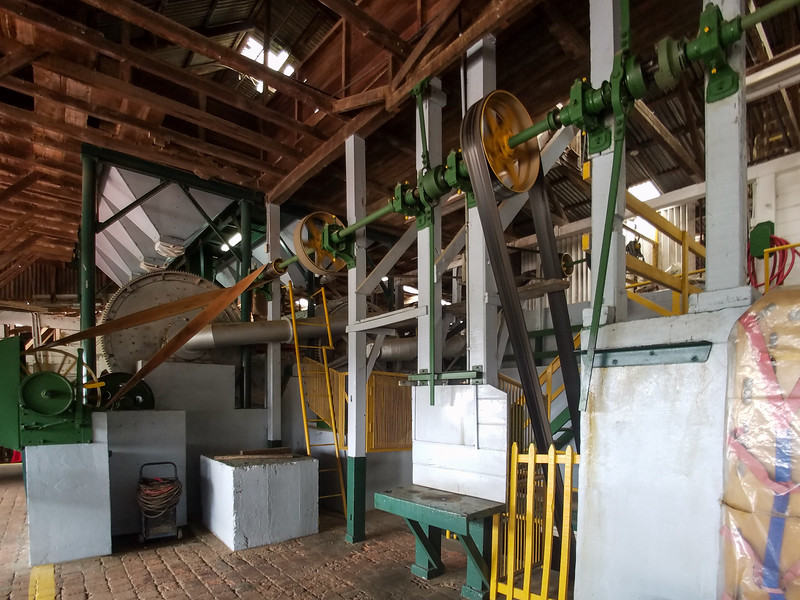 The equipment in the Doka Coffee Plantation.
