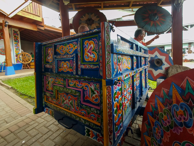 Inside an Ox Cart factory in Sarchi, Costa Rica.