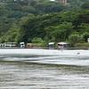 Crocodile Safari Tour boats on the Tarcoles River in Costa Rica.