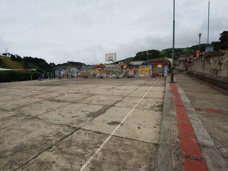 Playground across from the Catholic  Church in Sarchi, Costa Rica.