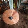 A modern design of an Ox Cart wheel.