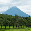 Volcano Arenal nearly clear of cloud cover.