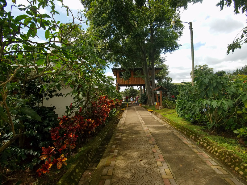 Entrance to Doka, a Costa Rican Coffee Plantation
