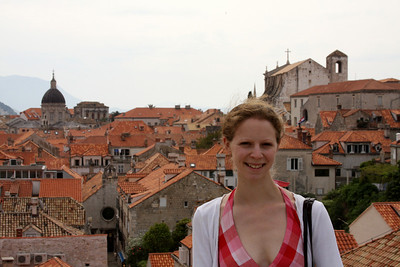 Emily on the city walls - Dubrovnik, Croatia ... April 29, 2008 ... Photo by Rob Page III