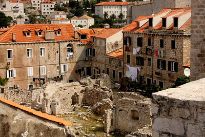 The ruins of the very old city - Dubrovnik, Croatia ... April 29, 2008 ... Photo by Rob Page III