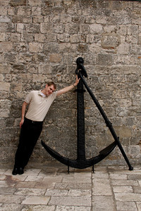 Rob the anchor - Dubrovnik, Croatia ... April 29, 2008 ... Photo by Emily Page