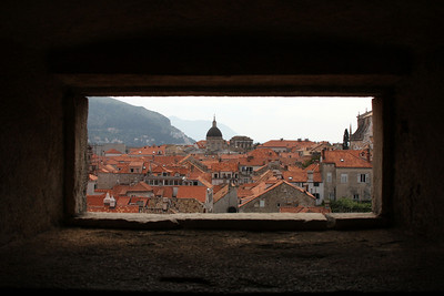 Dubrovnik through a window in the walls - Dubrovnik, Croatia ... April 29, 2008 ... Photo by Rob Page III